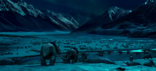 And such a beautiful location http://www.walkingwithdinosaurs.com/movie/media/gallery/